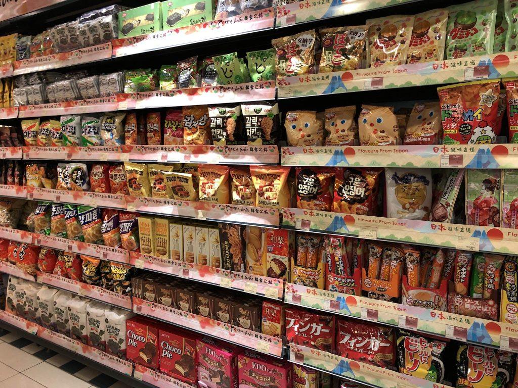 香港のスーパー、Market Place by Jasons、日本のお菓子