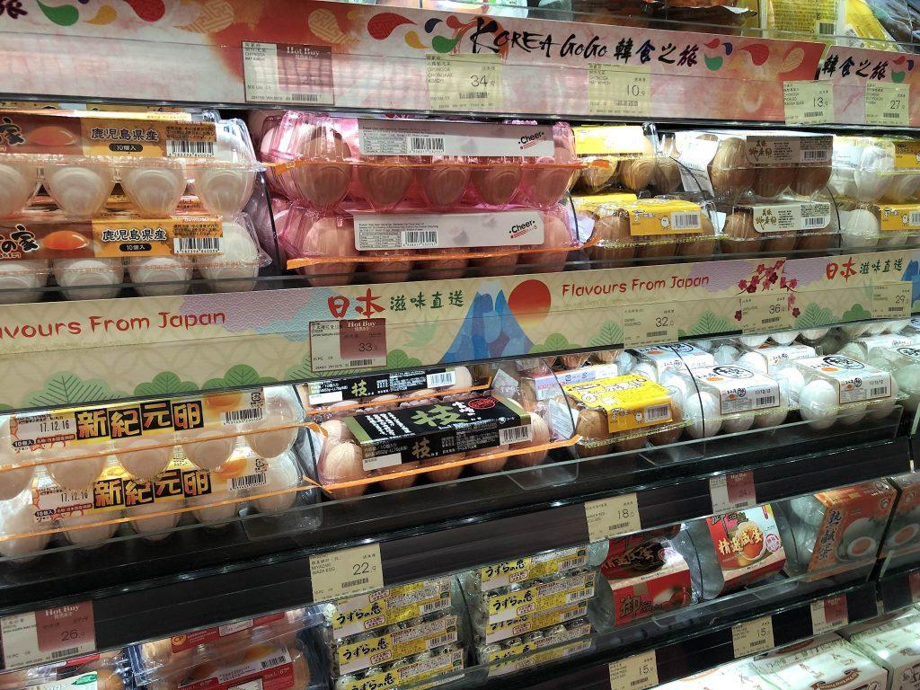 香港のスーパー、Market Place by Jasons、日本産の卵