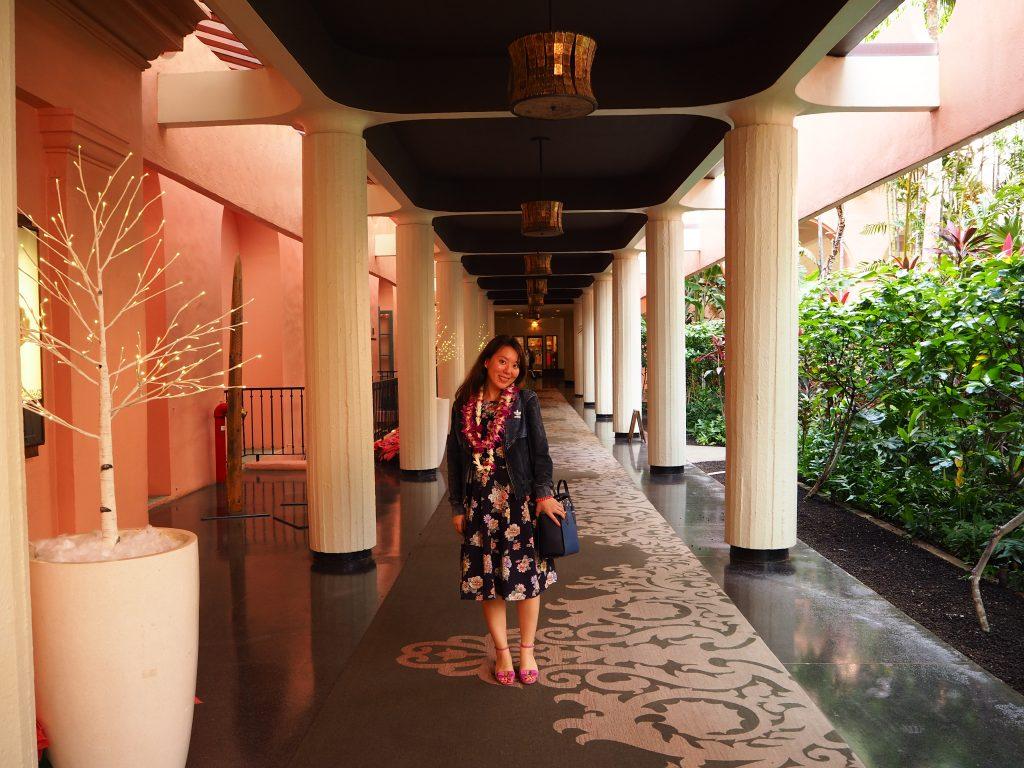 ロイヤルハワイアンホテル(The Royal Hawaiian)の廊下