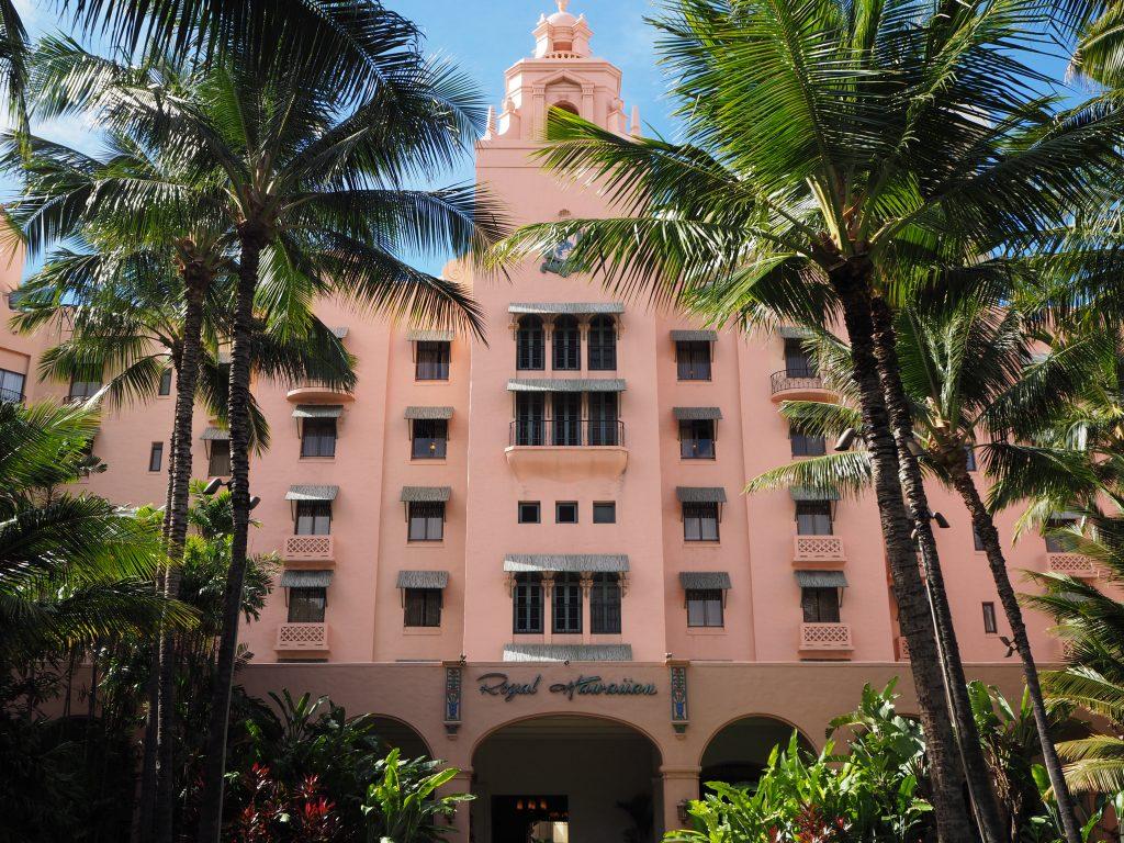 ロイヤルハワイアンホテル(The Royal Hawaiian)正面