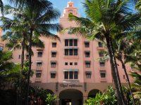 ロイヤルハワイアンホテル(The Royal Hawaiian)の正面