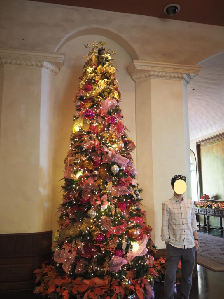 ロイヤルハワイアンホテル(The Royal Hawaiian)のクリスマスツリー