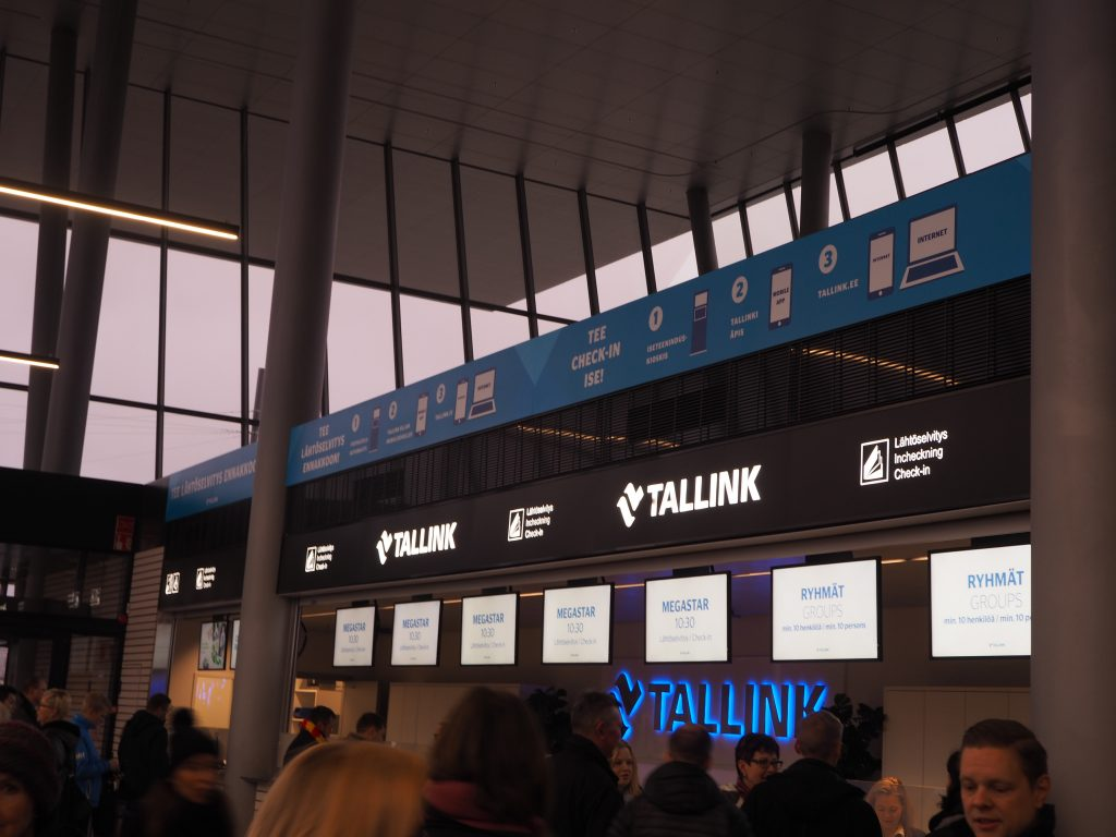 Tallink Silja Lineのチェックインカウンター