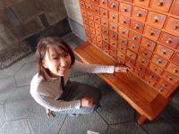 台湾の龍山寺のおみくじ