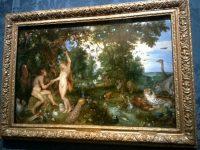 マウリッツハイス美術館内ルーベンスとブリューゲルの合作「エデンの園」