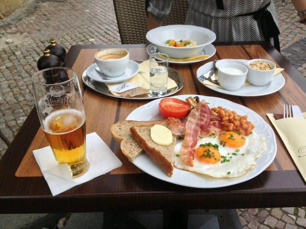 プラハのカフェ、Bella Vida Cafeの朝食