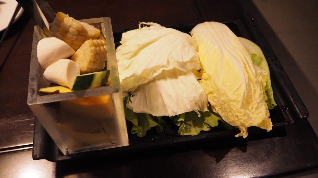 無老鍋の野菜