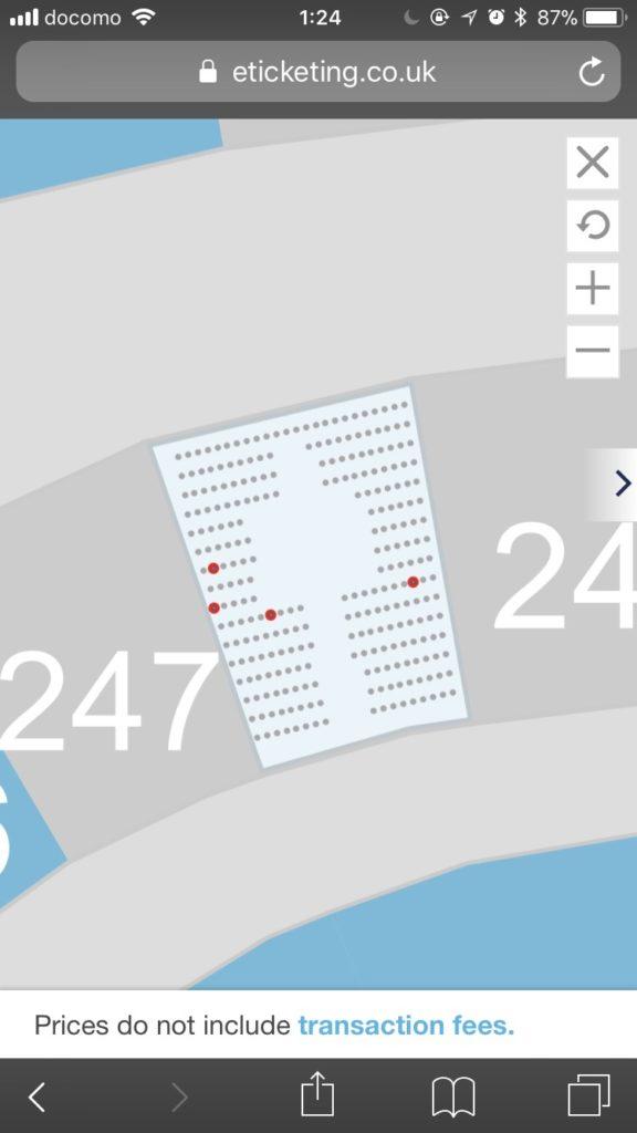ウェンブリースタジアムの座席