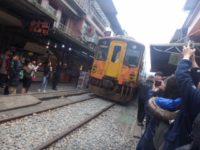 台湾の十分(シーフェン)の線路