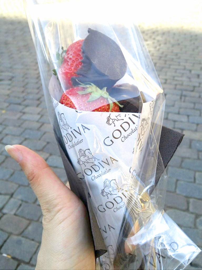 ゴディバのいちごチョコ