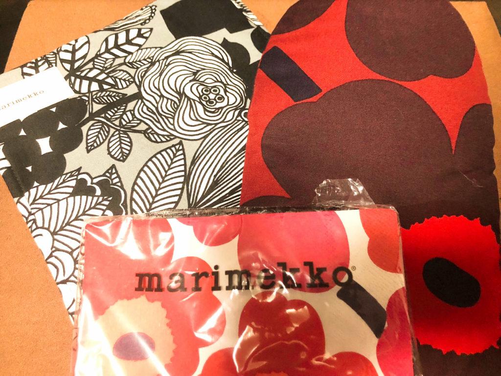 本社のマリメッコ ヘルットニエミアウトレット(Marimekko Herttoniemi Outlet)での購入品