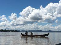 ミャンマーのバガンのエーヤワディー川