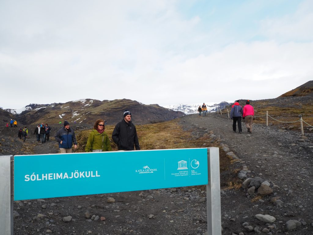 アイスランドのソウルヘイマヨークトル氷河(ミールダルスヨークトル氷河)