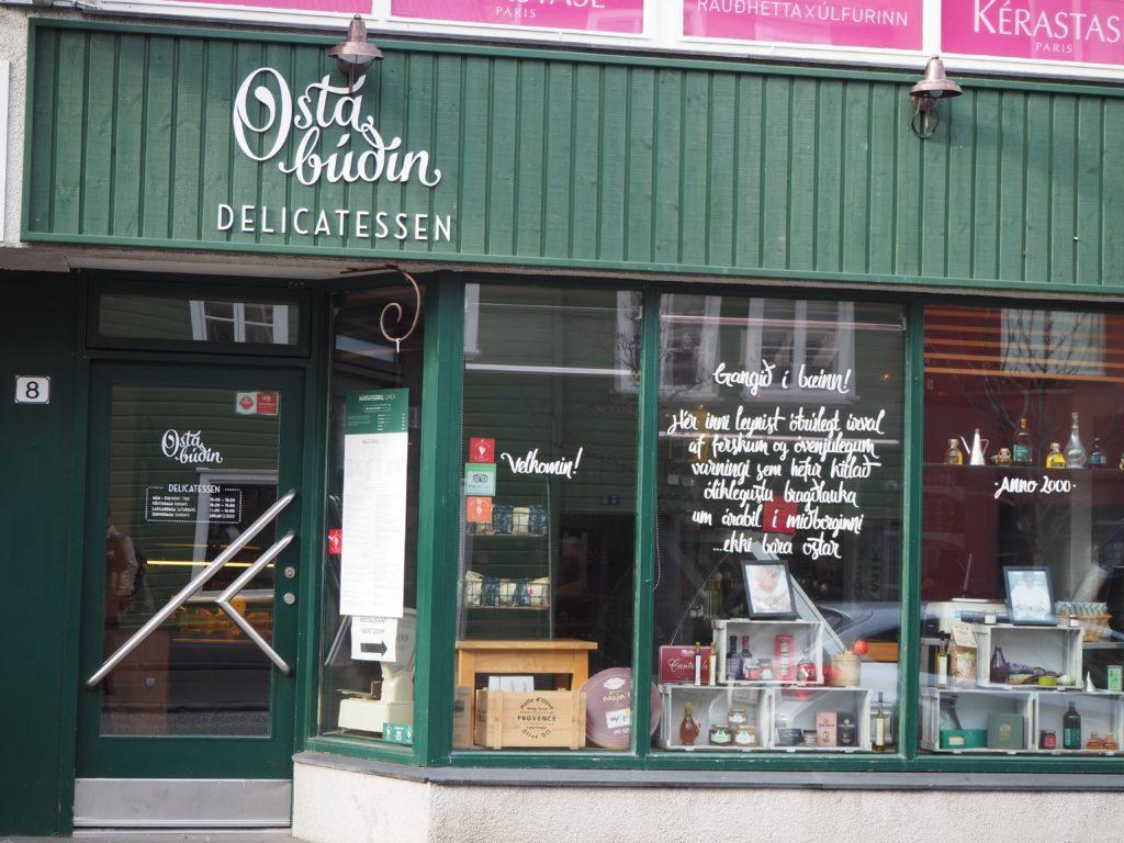 レイキャヴィークのレストラン、オスターブージン osta budin delicatessen