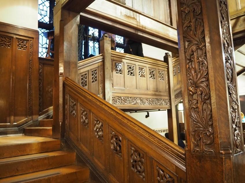 リバティ・ロンドン(Liberty)店内の階段
