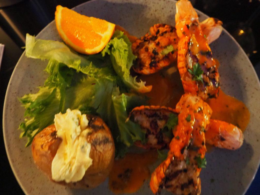 レイキャヴィークのレストラン、ハリーズ HARR'Sのロブスター料理