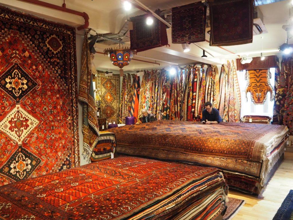 リバティ・ロンドン(Liberty)の絨毯売り場