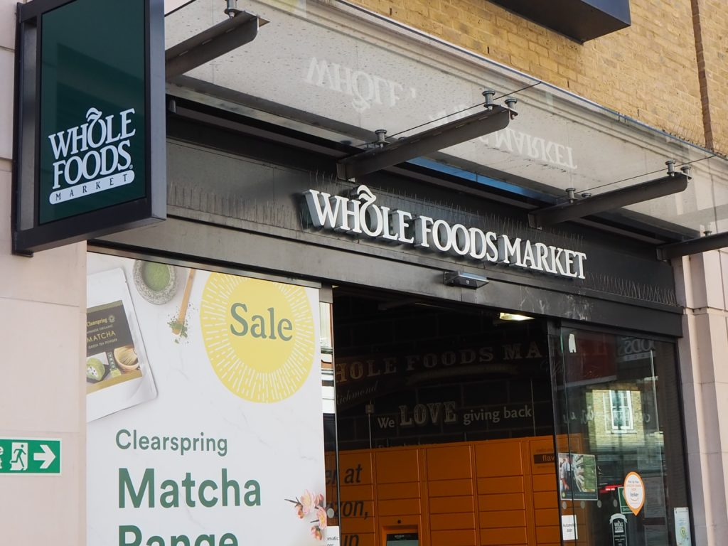 ロンドンのスーパー、ホールフーズマーケット Whole Foods Market