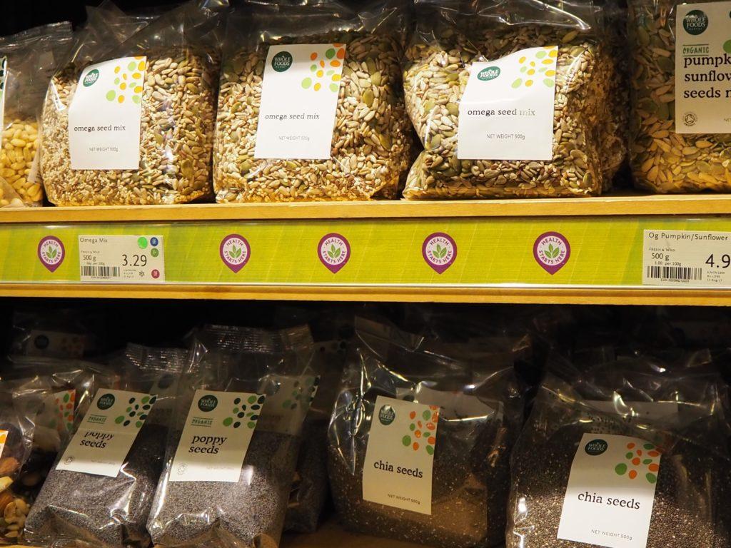 ロンドンのスーパー、ホールフーズマーケット Whole Foods Marketのスーパーフード