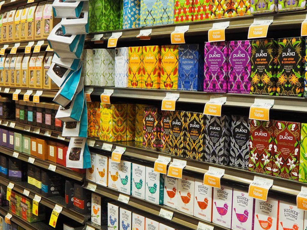ロンドンのスーパー、ホールフーズマーケット Whole Foods Marketの紅茶