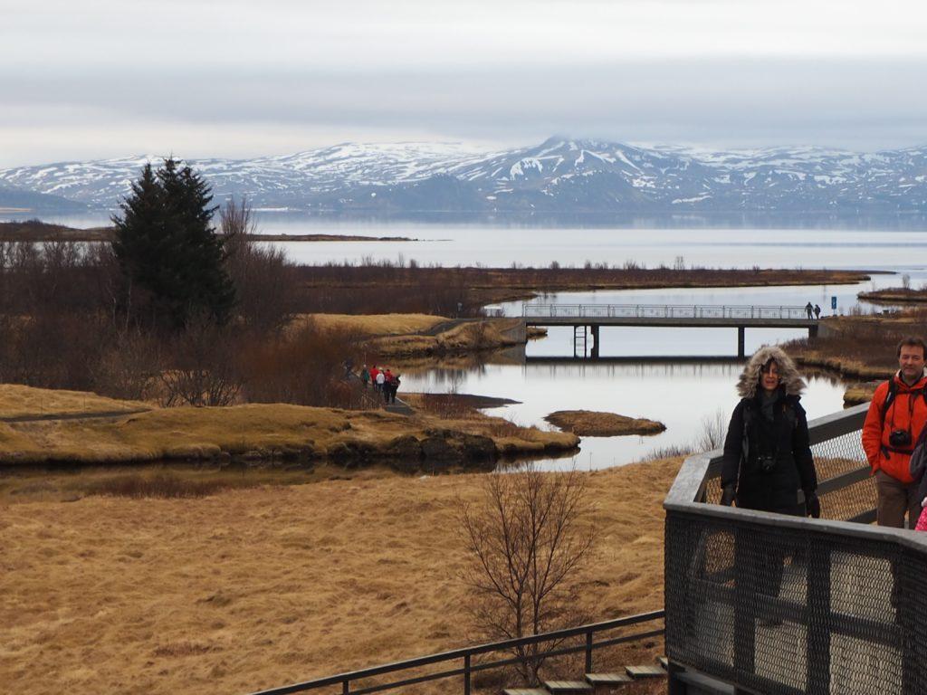 アイスランド、ゴールデンサークルの散歩道