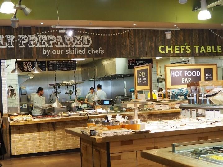 ロンドンのスーパー、ホールフーズマーケット Whole Foods Marketのイートイン