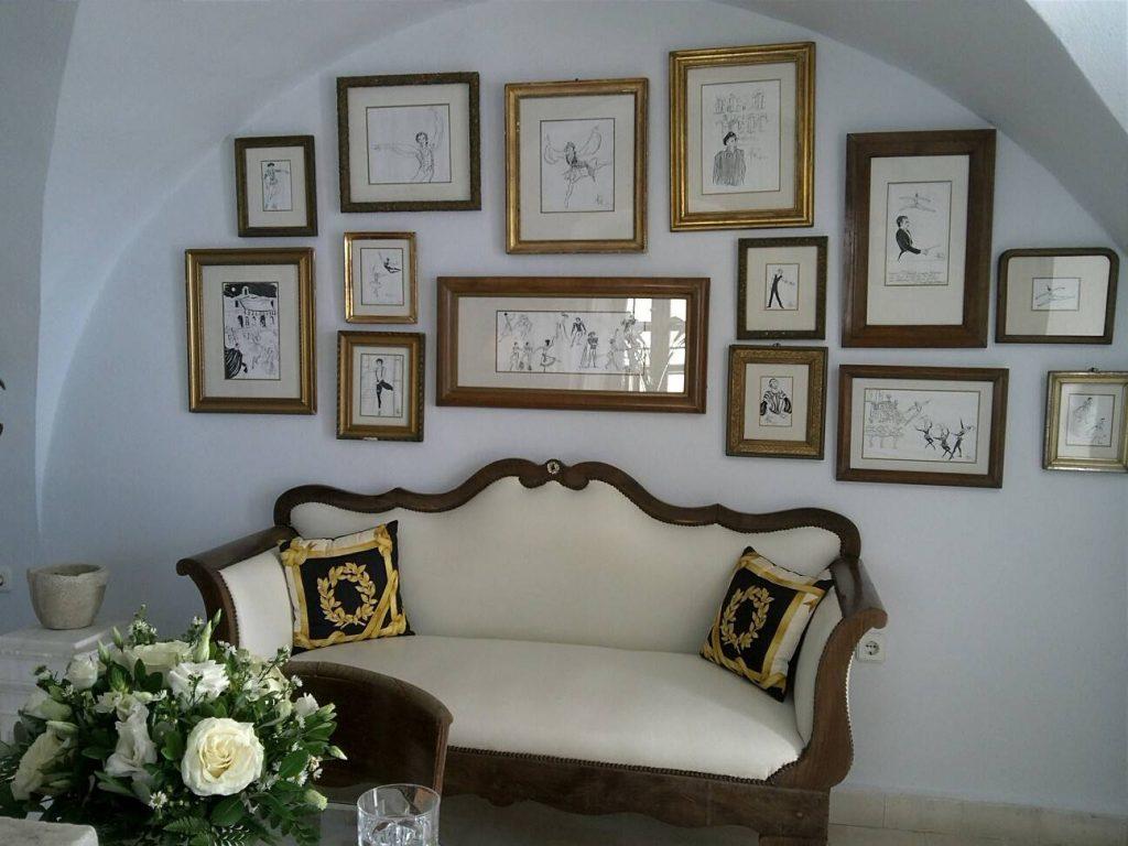 The Tsitouras Collection Hotel客室ソファ