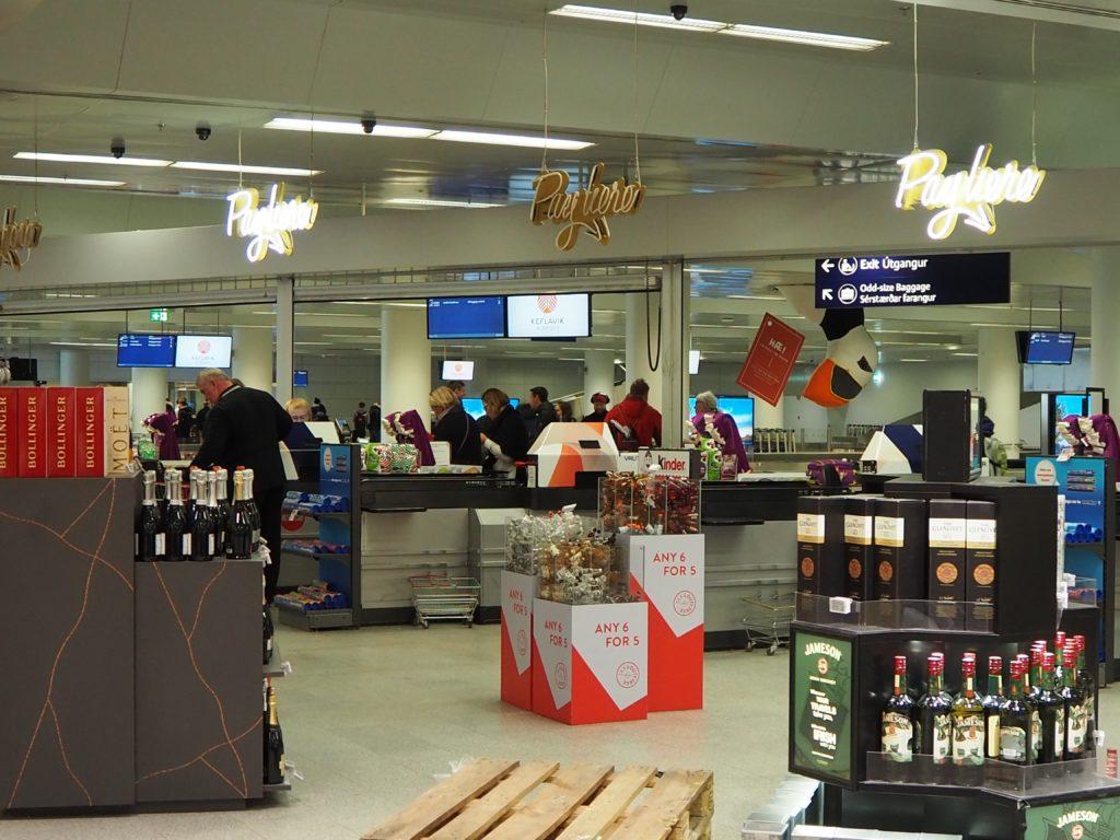 アイスランドの免税品売場