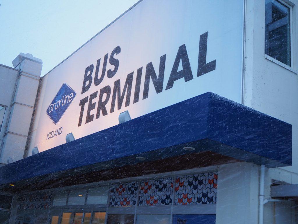 アイスランドのバスターミナル