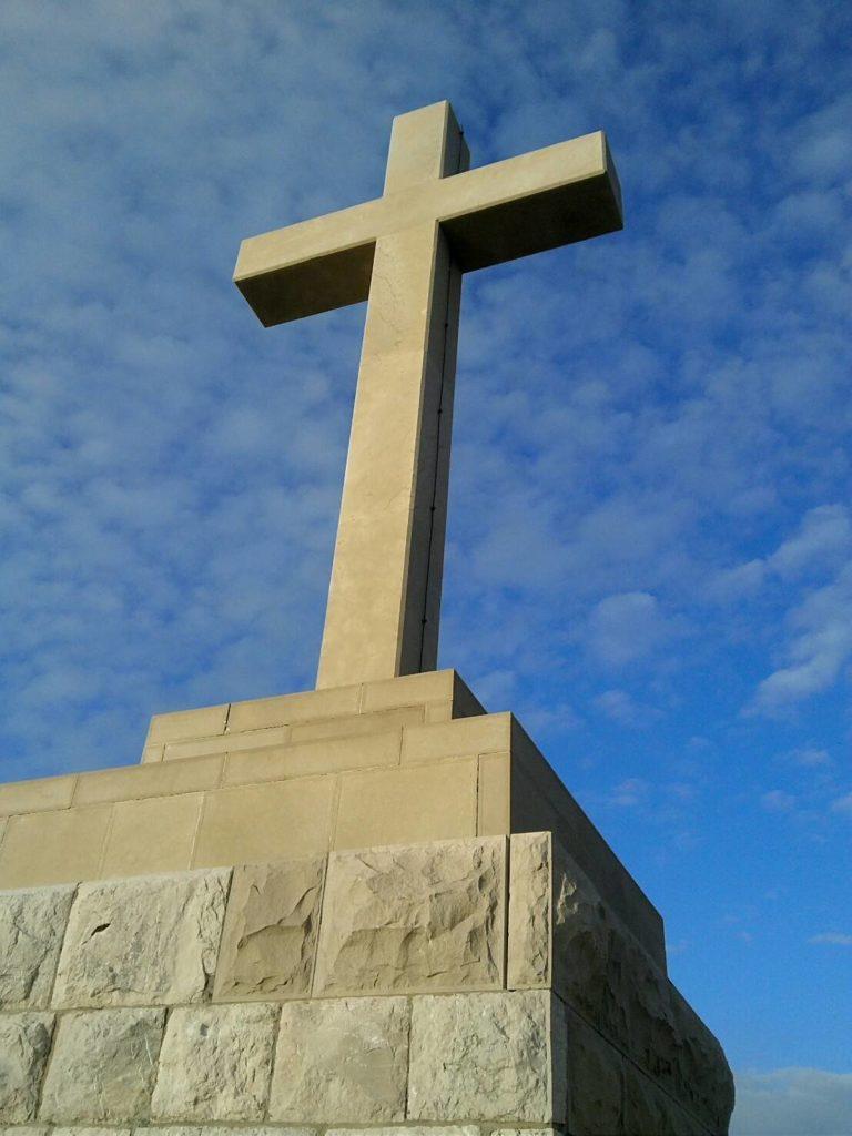 ドブロブニクのスルジ山頂上の十字架