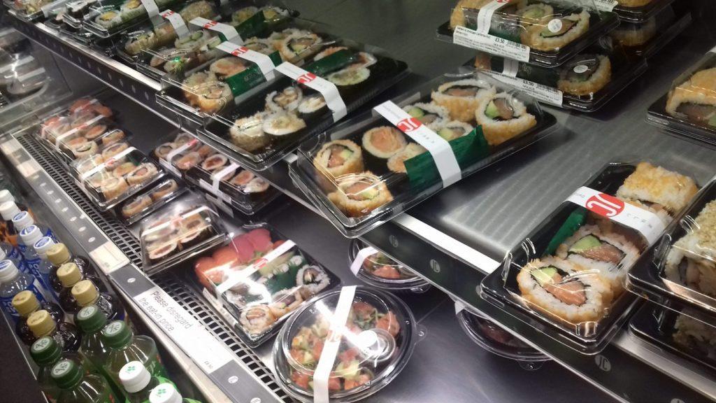 ジャパンセンターのお寿司とお弁当