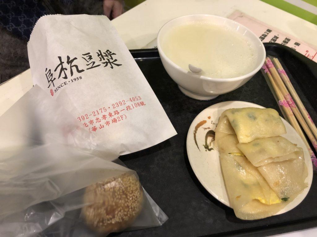 阜杭豆漿の朝食