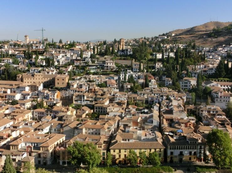 アルハンブラ宮殿から眺める街の風景