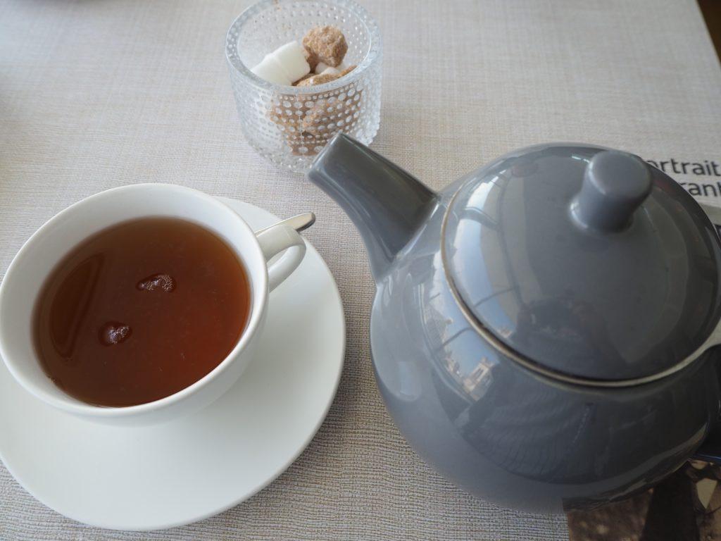 ロンドンのポートレートレストラン(Portrait Restaurant)のアフタヌーンティーの紅茶