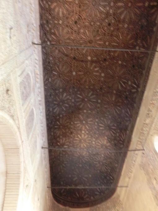 アルハンブラ宮殿のバルカ(舟)の間の天井