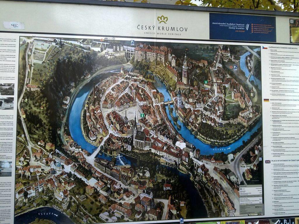 チェスキー・クルムロフの地図