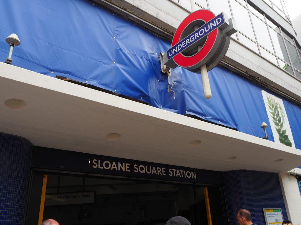 地下鉄ディストリクト線(District line) Sloane Square駅