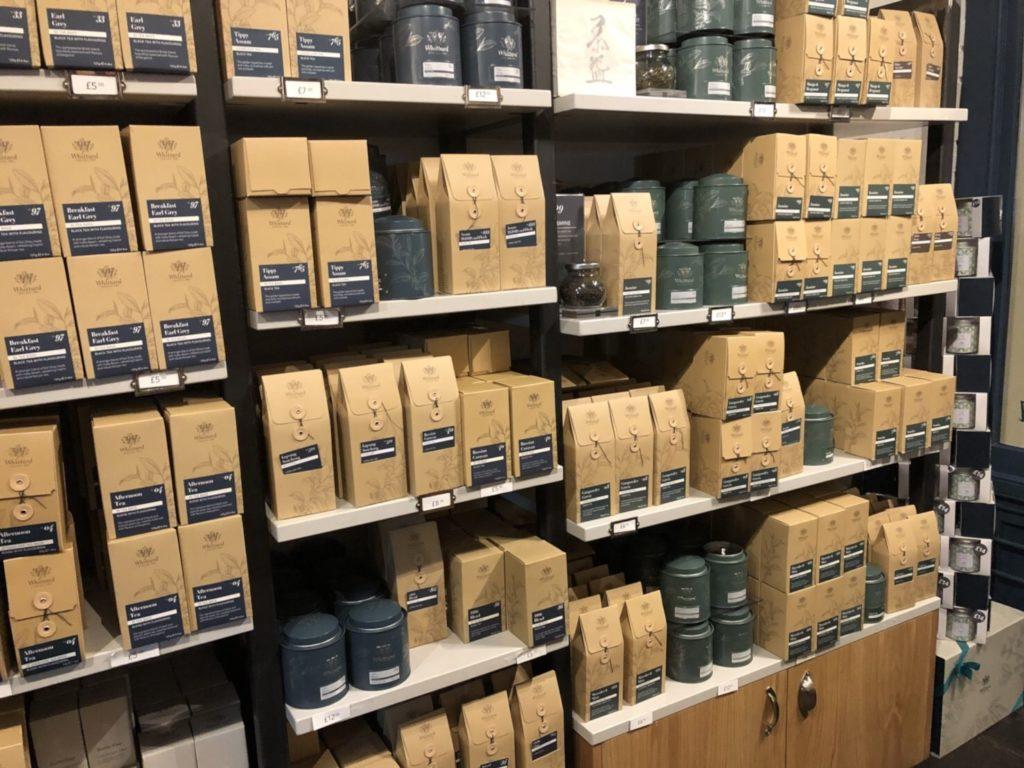 ロンドンのウィッタード(whittard)の紅茶