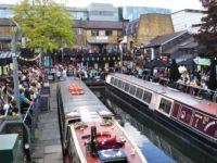 ロンドンのカムデン・ロックの船着き場