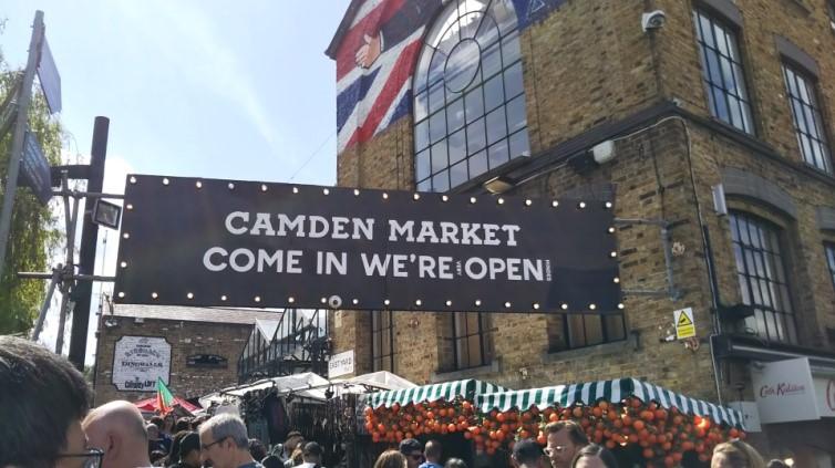 ロンドンのカムデン・ロック・マーケット