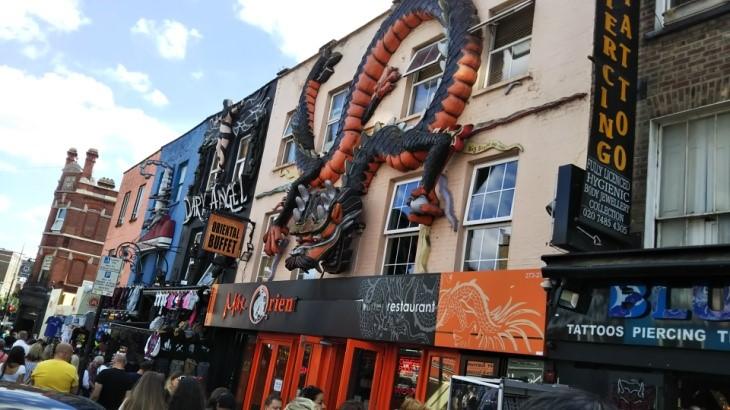 ロンドンのカムデン・ロック・マーケットのお店