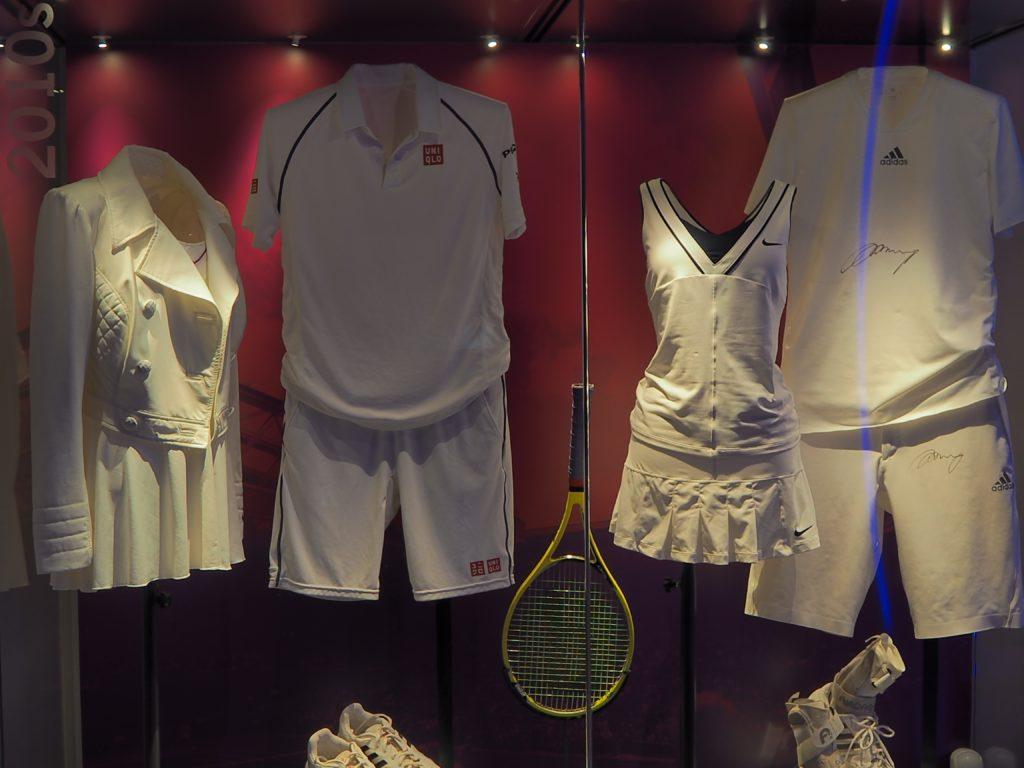 ウィンブルドン(Wimbledon)に展示されているユニフォーム