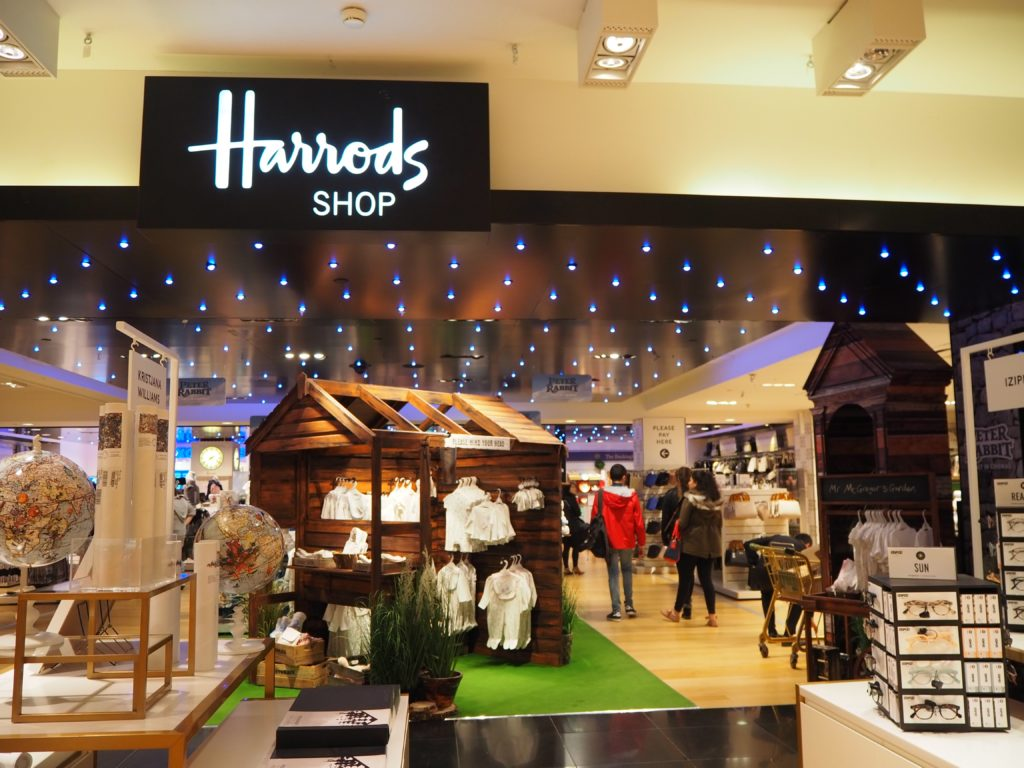 ロンドンのハロッズ(Harrods)のギフトショップ