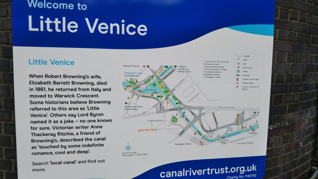 リトル・ベニス(Little Venice)の看板