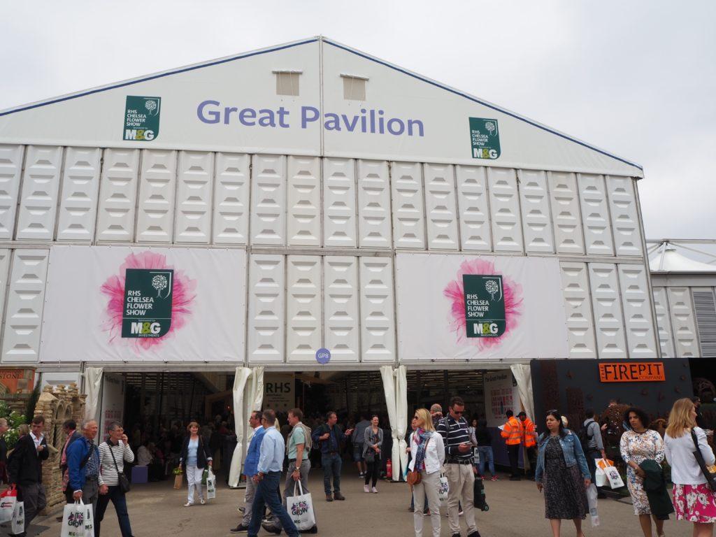 チェルシー・フラワーショーの巨大パビリオン(Great Pavilion)