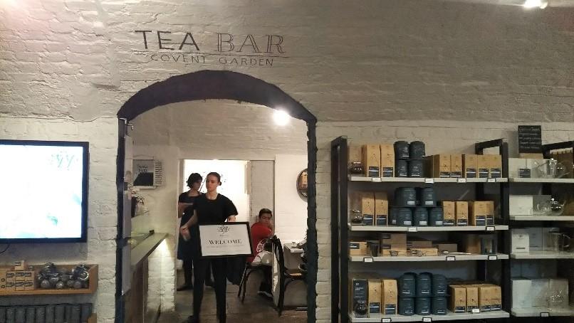 ロンドンのコヴェント・ガーデンのウィッタード(whittard)のカフェ、TEA BAR