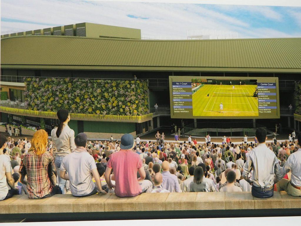 ウィンブルドン(Wimbledon)の試合観戦の様子