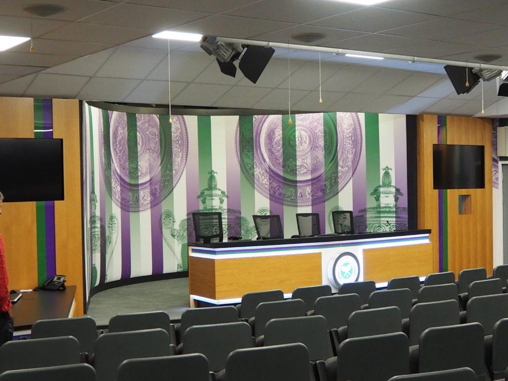 ウィンブルドン(Wimbledon)のメインインタビュールーム