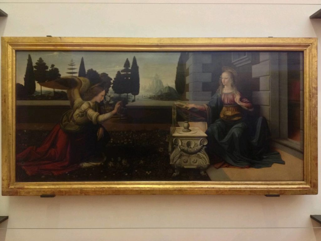 ウフィツィ美術館の「受胎告知」