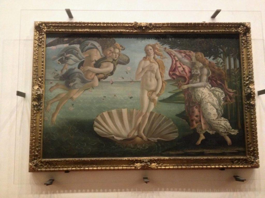 ウフィツィ美術館の「ヴィーナス誕生ヴィーナス誕生」